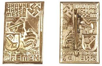 Значки NSDAP,WHW,NSKOV ,HJ и прочие (Tinnies & Political Badges-1934-bremen-tinnie-jpg